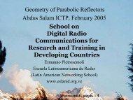 Geometry of Parabolic Reflectors Abdus Salam ... - Wireless@ICTP