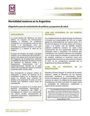 Mortalidad materna en la Argentina - AAGOP