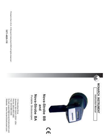 monarch nova strobe dbx manual