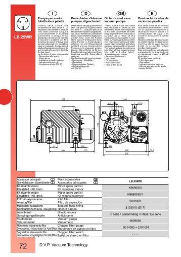 D.V.P. Vacuum Technology E GB D I LB.25WR - Comfilter
