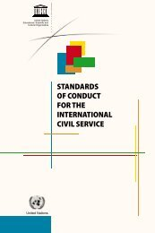 standards of conduct for the international civil service - ICTP