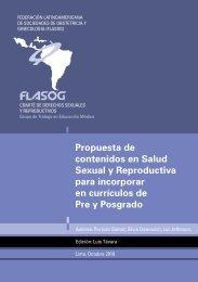 Propuesta de contenidos en Salud Sexual y Reproductiva ... - fasgo