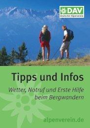 Broschüre Tipps und Infos für die Bergtour - Deutscher Alpenverein
