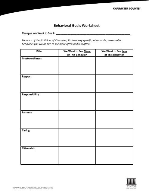Behavioral Goals Worksheet moreover 6 Pillars Of Education Character Counts And The Six Spelling further Respect  I Will Statements Worksheets furthermore 6 Pillars Of Character Worksheets Character Counts … Respect Week together with 6 Pillars Of Character Archives Positive Discipline Worksheets further Six Pillars Of Character Worksheets The Best Image Education Middle further Character Counts …   Respect Week   Pilla… together with 6 Pillars Of Character Worksheets   Teaching Resources   TpT additionally 6 Pillars Of Character Worksheets   Teaching Resources   TpT further Respect Character Lesson Plan Free Downloadable 52 Total besides 6 Pillars Of Character Worksheets Six Pillars Of Character 6 Pillars in addition  besides Six Pillars Of Character Worksheets The best worksheets image furthermore Six Pillars Of Character Worksheets   Oaklandeffect together with Character Ed Worksheets   Oaklandeffect likewise Six Pillars Character Colors. on 6 pillars of character worksheets