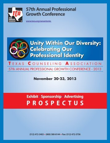57th Annual Professional Growth Conference - Texas Counseling ...