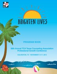 Program Book 56th annual TCa Texas Counseling association ...