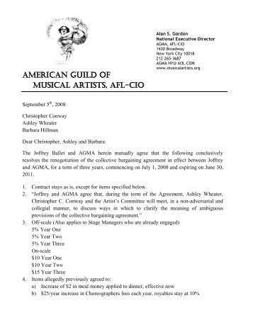Sample Letter Of Agreement For Music The Cinematheque