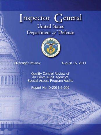 Appendix C. Air Force Audit Agency Comments - DoD-IG