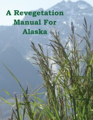 Revegetation Manual For Alaska - Alaska Department of Natural ...