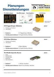 Referenzliste Planungen PDF - Holzbau Hertner AG