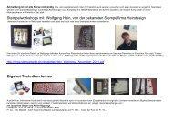Stempelworkshops mit Wolfgang Hein, von der ... - Atelier Rägeboge