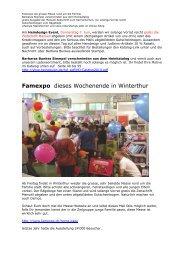 Famexpo dieses Wochenende in Winterthur - Stempelseite