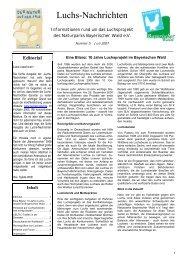Luchs-Nachrichten 5 vom Juni 2007 - Das Luchsprojekt Bayern