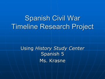 spanish civil war timeline research project chadwick school