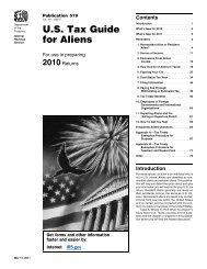 2010 Publication 519 - Internal Revenue Service