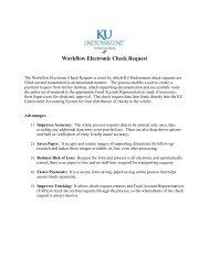 Workflow Electronic Check Request - KU Endowment