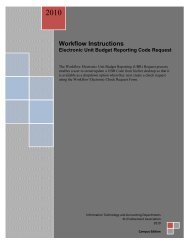 Using the Unit Budget Reporting Code - KU Endowment