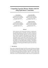 Computing Gaussian Mixture Models with EM using Equivalence ...