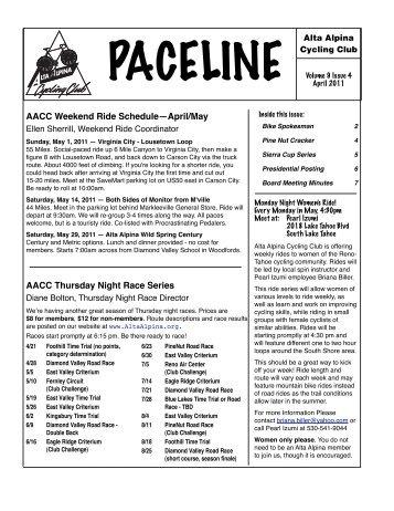 paceline - Alta Alpina Cycling Club