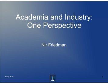 Dr. Friedman's seminar slides - Department of Physics