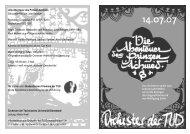 Programmheft - Orchester der TU Darmstadt