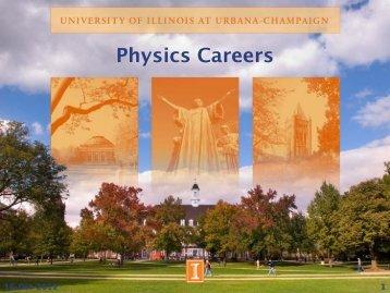 Physics Careers
