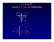 Lecture 19: Building Atoms and Molecules