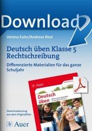 Deutsch üben Klasse 5 Rechtschreibung