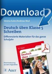 Deutsch üben Klasse 5 Schreiben