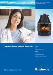 Feuer und Flamme für Ihren Wohnraum - Buderus