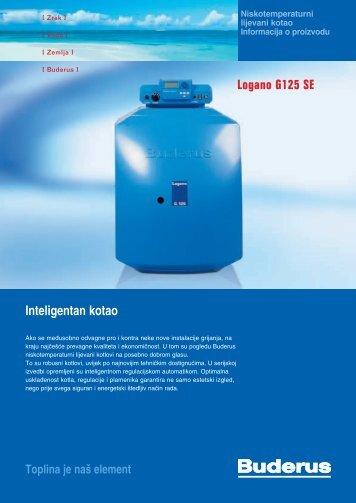Inteligentan kotao Logano G125 SE - Buderus
