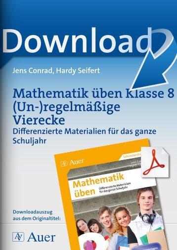 Mathematik üben Klasse 8 (Un-)regelmäßige Vierecke