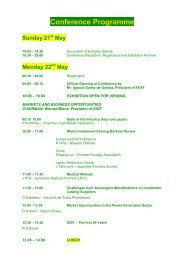 Conference Programme Sunday 21st May