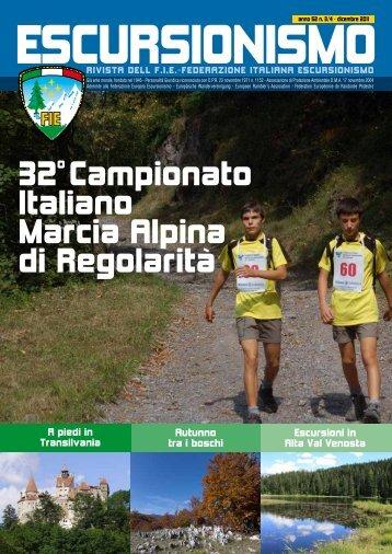 32o Campionato Italiano Marcia Alpina di Regolarità