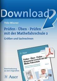 Prüfen - Üben - Prüfen mit der Mathefahrschule 2