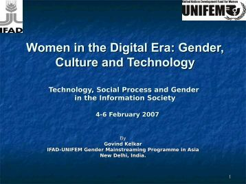 Women in the Digital Era: Gender, Culture and ... - IT for Change