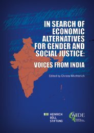 in search of economic alternatives for gender and social justice