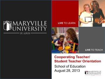 Cooperating Teacher - Maryville University