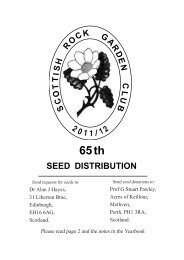 DISTRIBUTION SEED - the Scottish Rock Garden Club