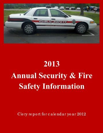 2013 Annual Security & Fire Safety Information - Maryville University