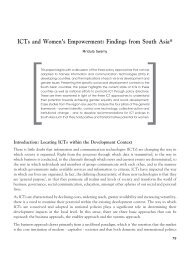 ICT and women's empowerment: findings from South ... - IT for Change