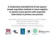 Jonny Peter - Randomised contrl trial (27 Nov, 13h30).