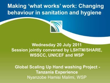 6 Malimi Global Scaling Up Hand washing Project