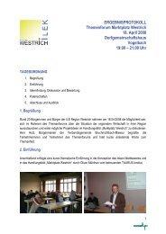 Protokoll - ILE-Region Westrich