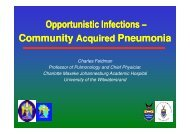 Charles Feldman - Community acquired pneumonia (26 Nov, 13h30).