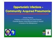 Charles Feldman - Community acquired pneumonia (26 Nov, 13h30).