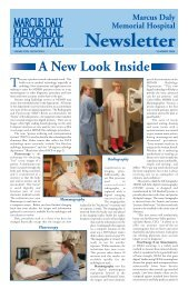 MDMH Newsletter Summer 2006 - Marcus Daly Memorial Hospital.