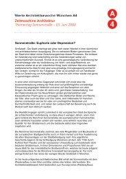 Zeitmaschine Architektur Thementag Sonnenstraße – 03. Juni 2008