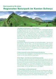 Faktenblatt Regionaler Naturpark Schwyz 2007 - Region Muotatal
