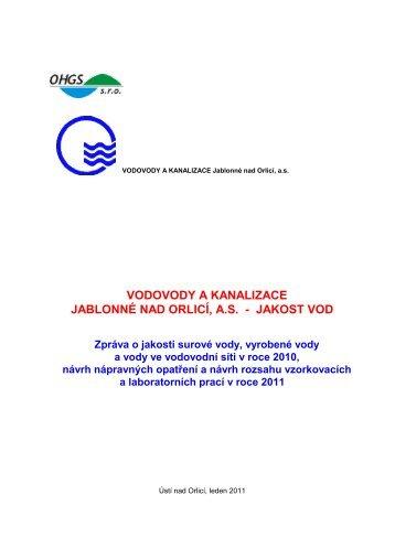 3.4. skupinový vodovod č. 4 - Vodovody a kanalizace Jablonné nad ...